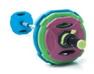 Aerobikos grifai ir diskai (28-30mm)